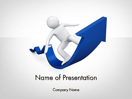 Surfing On Arrow Of Success PowerPoint Template, 11985, Business Concepts — PoweredTemplate.com