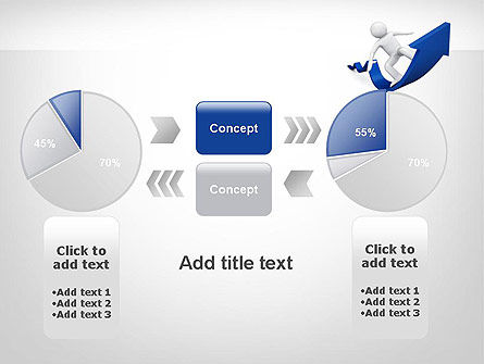 Surfing On Arrow Of Success PowerPoint Template Slide 16