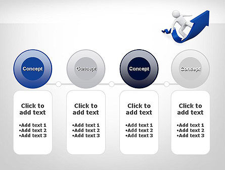 Surfing On Arrow Of Success PowerPoint Template Slide 5