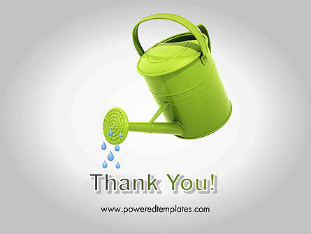 Watering Can Pouring Water PowerPoint Template Slide 20