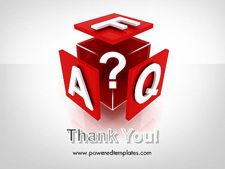 FAQ Cube PowerPoint Template Slide 20