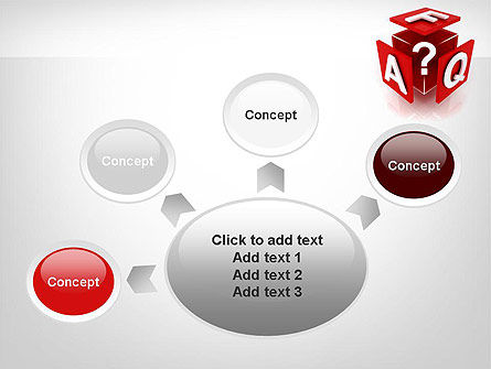FAQ Cube PowerPoint Template Slide 7