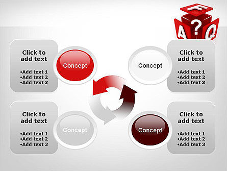 FAQ Cube PowerPoint Template Slide 9