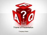 Education & Training: FAQ Cube PowerPoint Template #11987