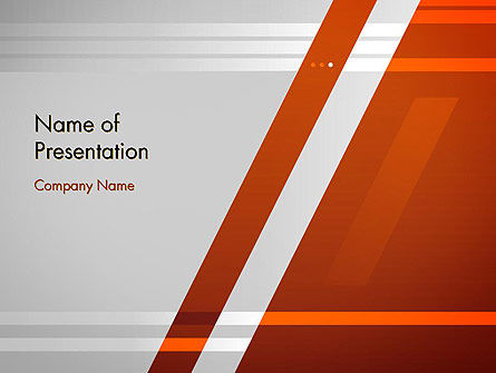 Abstract/Textures: Neat Orange-Gray PowerPoint Template #11988