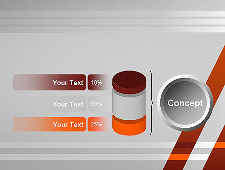 Neat Orange-Gray PowerPoint Template Slide 11