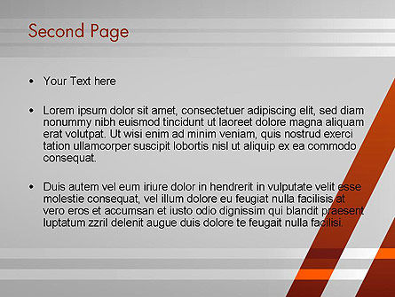 Neat Orange-Gray PowerPoint Template, Slide 2, 11988, Abstract/Textures — PoweredTemplate.com
