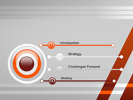 Neat Orange-Gray PowerPoint Template, Slide 3, 11988, Abstract/Textures — PoweredTemplate.com