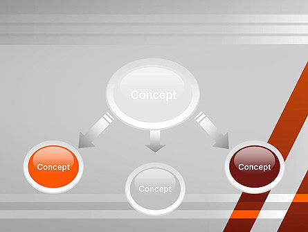 Neat Orange-Gray PowerPoint Template, Slide 4, 11988, Abstract/Textures — PoweredTemplate.com