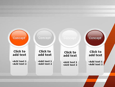 Neat Orange-Gray PowerPoint Template Slide 5
