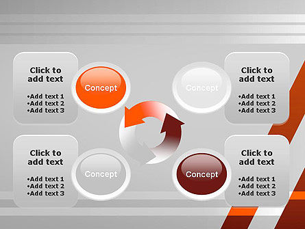 Neat Orange-Gray PowerPoint Template Slide 9