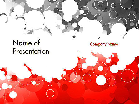 Abstract/Textures: Plantilla de PowerPoint - anillos de color gris y rojo #11992