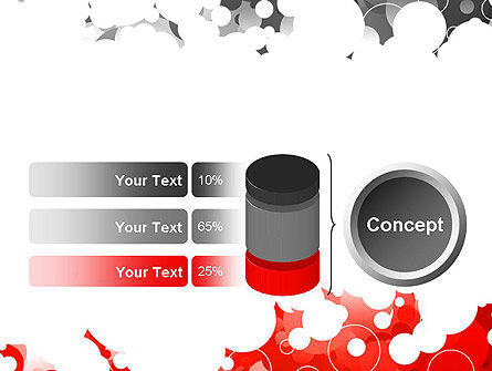 Gray and Red Rings PowerPoint Template Slide 11