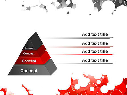 Gray and Red Rings PowerPoint Template Slide 12