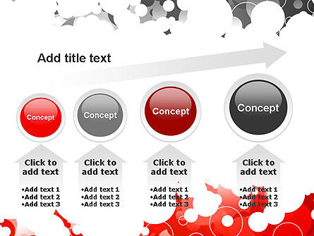 Gray and Red Rings PowerPoint Template Slide 13