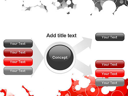Gray and Red Rings PowerPoint Template Slide 14