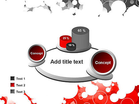 Gray and Red Rings PowerPoint Template Slide 16