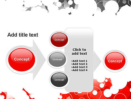 Gray and Red Rings PowerPoint Template Slide 17
