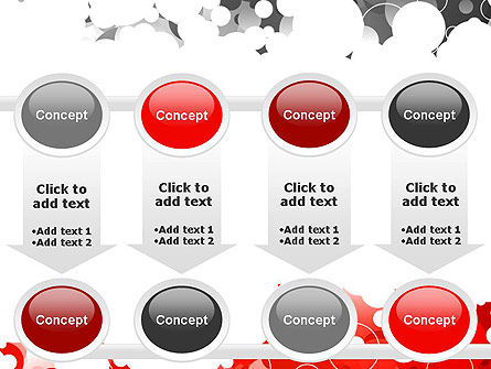 Gray and Red Rings PowerPoint Template Slide 18