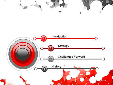 Gray and Red Rings PowerPoint Template Slide 3