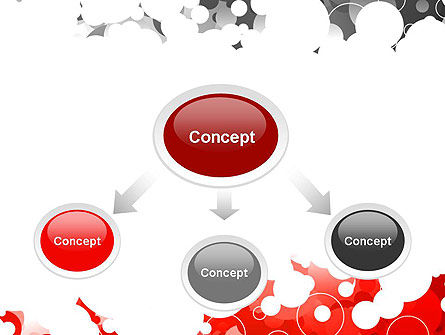 Gray and Red Rings PowerPoint Template, Slide 4, 11992, Abstract/Textures — PoweredTemplate.com
