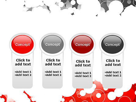 Gray and Red Rings PowerPoint Template Slide 5