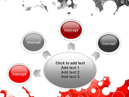 Gray and Red Rings PowerPoint Template Slide 7