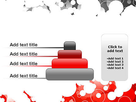 Gray and Red Rings PowerPoint Template Slide 8