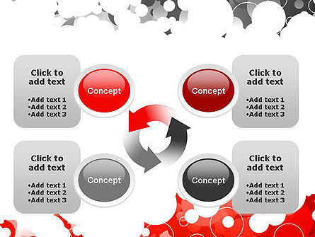 Gray and Red Rings PowerPoint Template Slide 9