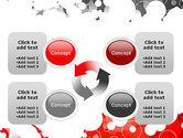 Gray and Red Rings PowerPoint Template#9