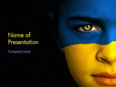 Flag of Ukraine PowerPoint Template