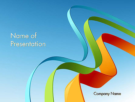 Abstract/Textures: Colorful Stripe Banners PowerPoint Template #11994