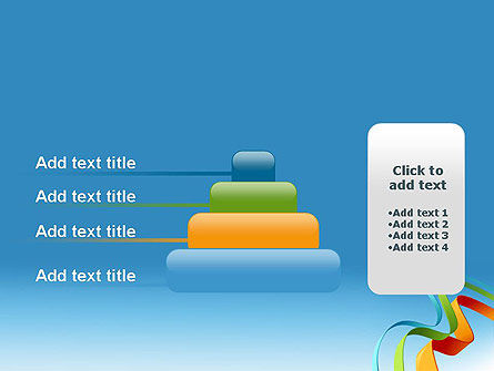 Colorful Stripe Banners PowerPoint Template Slide 8