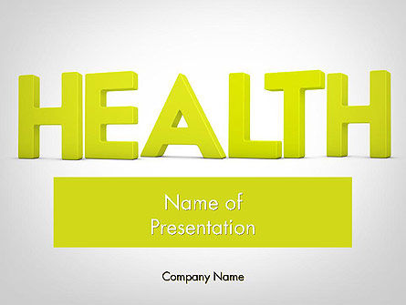 Medical: Word HEALTH PowerPoint Template #11995