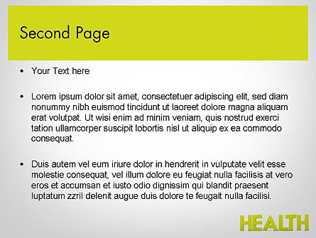 Word HEALTH PowerPoint Template, Slide 2, 11995, Medical — PoweredTemplate.com