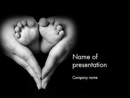 Cute Maternity PowerPoint Template, 11996, Religious/Spiritual — PoweredTemplate.com
