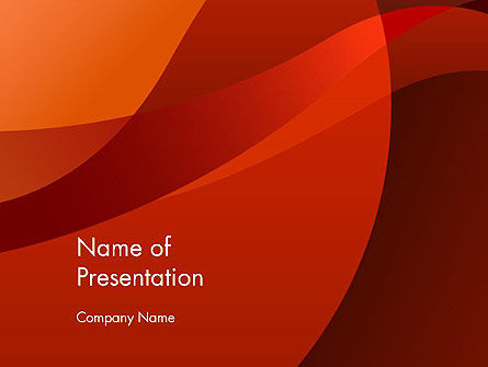 Curved Red Layers PowerPoint Template
