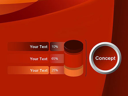 Curved Red Layers PowerPoint Template Slide 11