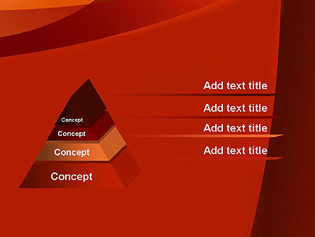 Curved Red Layers PowerPoint Template Slide 12