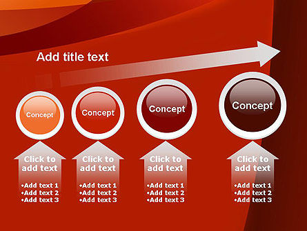 Curved Red Layers PowerPoint Template Slide 13