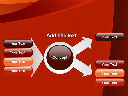 Curved Red Layers PowerPoint Template Slide 14