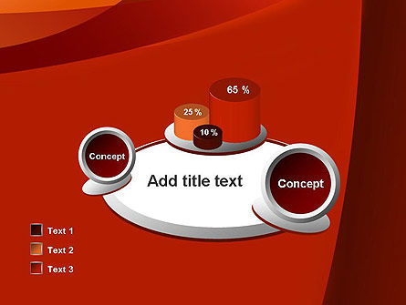 Curved Red Layers PowerPoint Template Slide 16