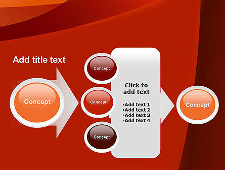 Curved Red Layers PowerPoint Template Slide 17