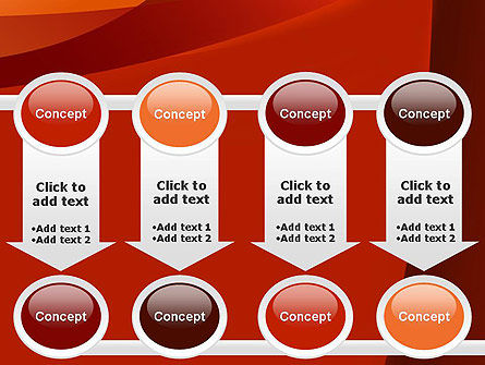 Curved Red Layers PowerPoint Template Slide 18