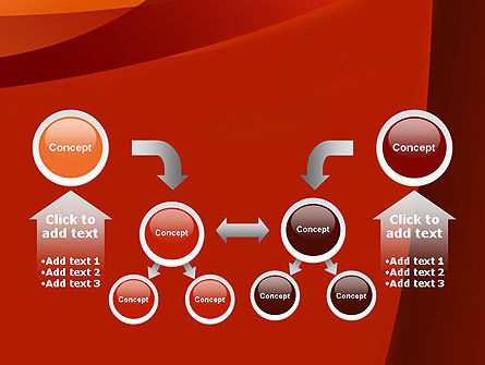 Curved Red Layers PowerPoint Template Slide 19