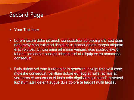 Curved Red Layers PowerPoint Template, Slide 2, 11999, Abstract/Textures — PoweredTemplate.com