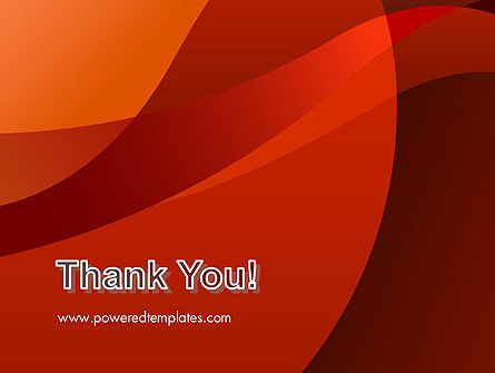 Curved Red Layers PowerPoint Template Slide 20