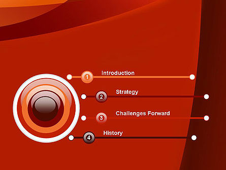 Curved Red Layers PowerPoint Template Slide 3