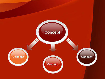 Curved Red Layers PowerPoint Template Slide 4