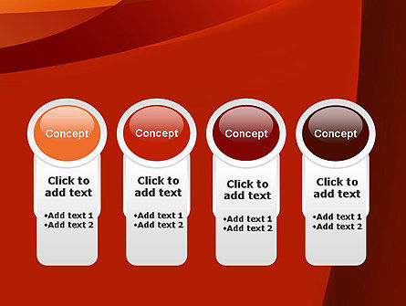 Curved Red Layers PowerPoint Template Slide 5